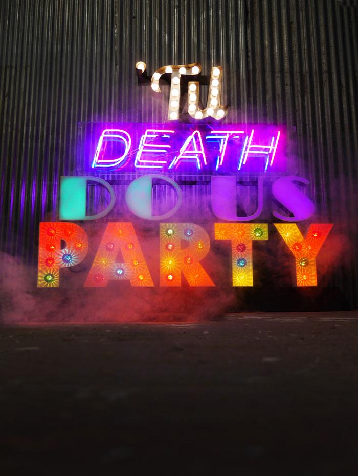 Til Death Do Us Party Light Up Sign For Hire Vowed Amp Amaed