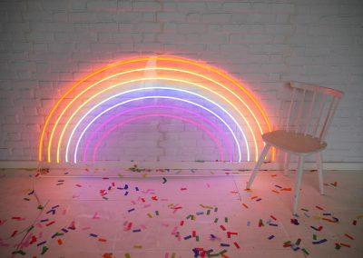 rainbow neon sign vowed amazed WEB