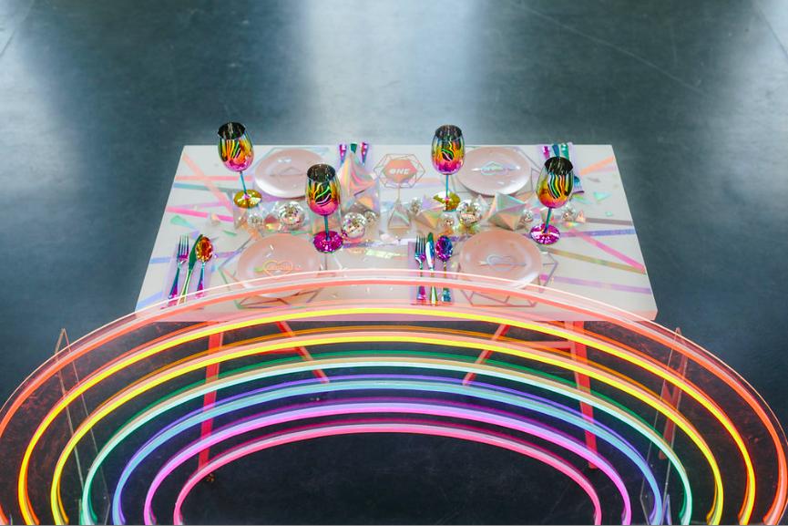 Ultra Violet shoot feat. neon hoops & neon rainbow