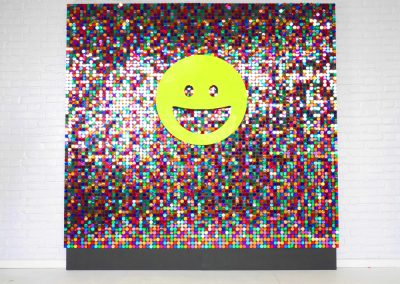 Custom rainbow shimmer wall